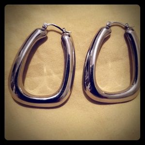 Real Sterling Silver Hoop Earrings